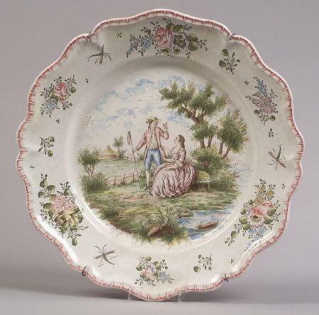 Tin Glazed Faience Earthenware Charger