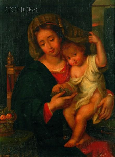 After Raphael (Raffaello Sanzio) (Italian, 1483-1520)      Madonna and Child
