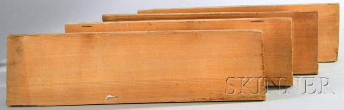 Four Split Spruce Violin Tops.