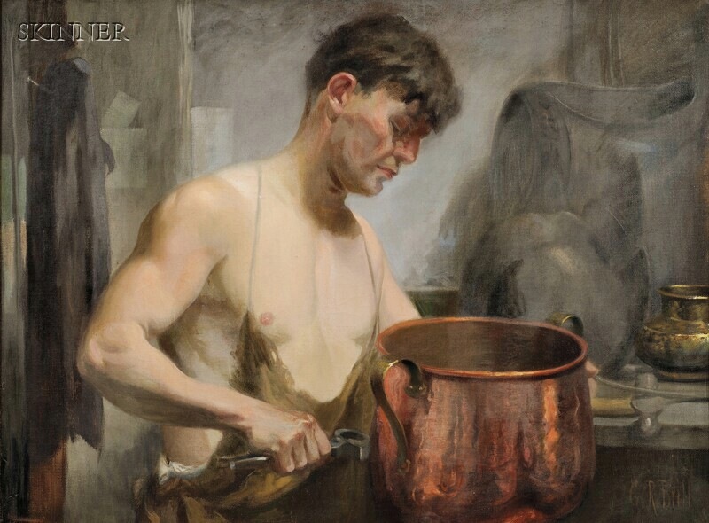 George Reiter Brill (American, 1867-1918)      The Coppersmith