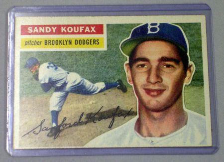 1956 Topps Baseball Card No. 79 Sandy Koufax.