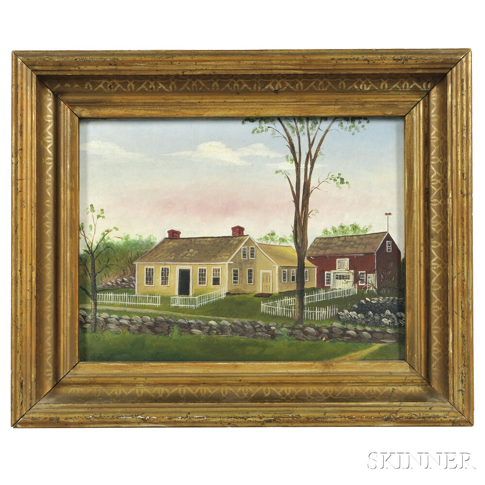 The Skinner Barn: American School, Early 20th Century Portrait Of An Auburn