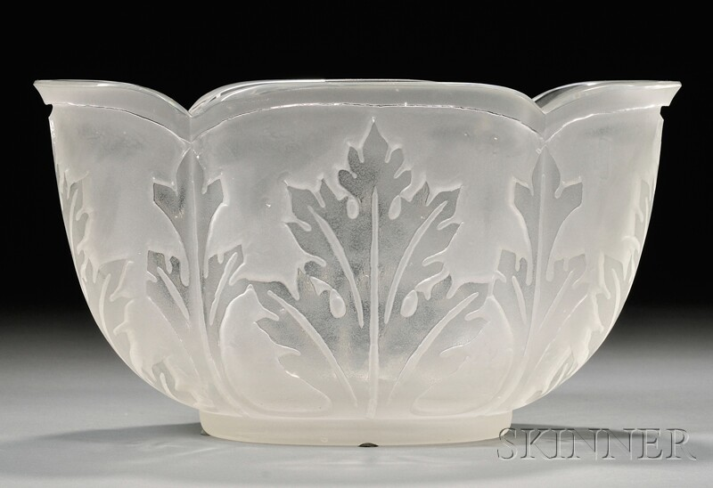 Acanthus Bowl, Possibly Steuben