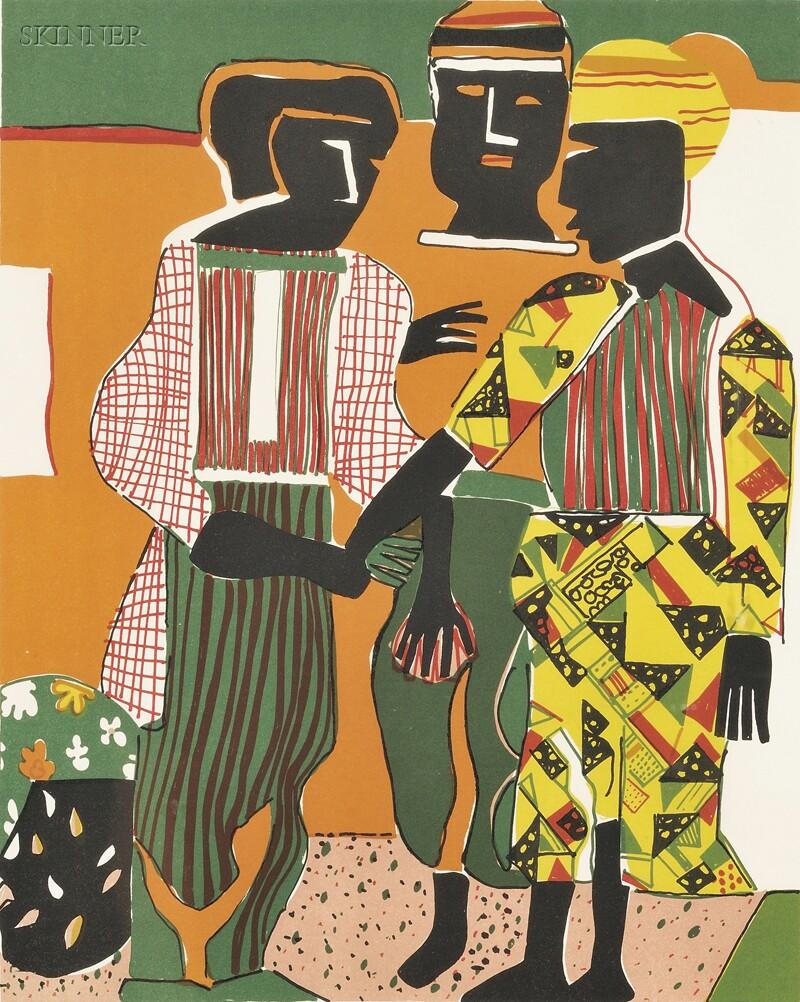 Romare Bearden (American, 1911-1988)      Conjunction
