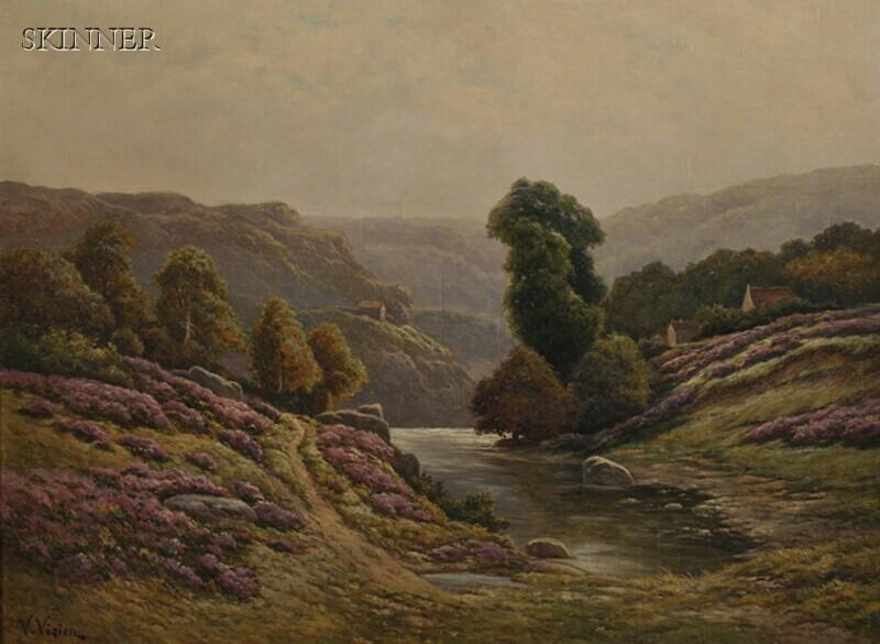 V. Vézien (European, 19th/20th Century)      Scotch Heather, near Loch Lomond