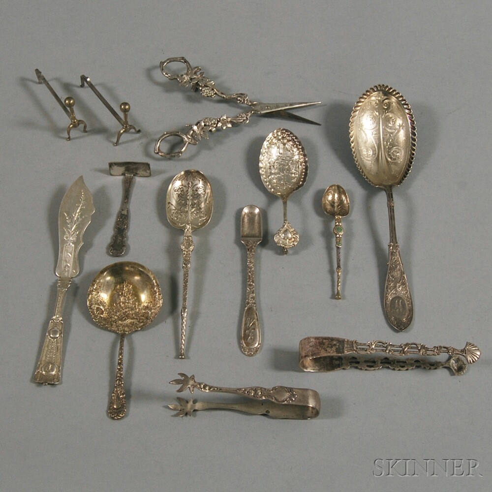 Small Group of Sterling Silver Flatware and Serving Items