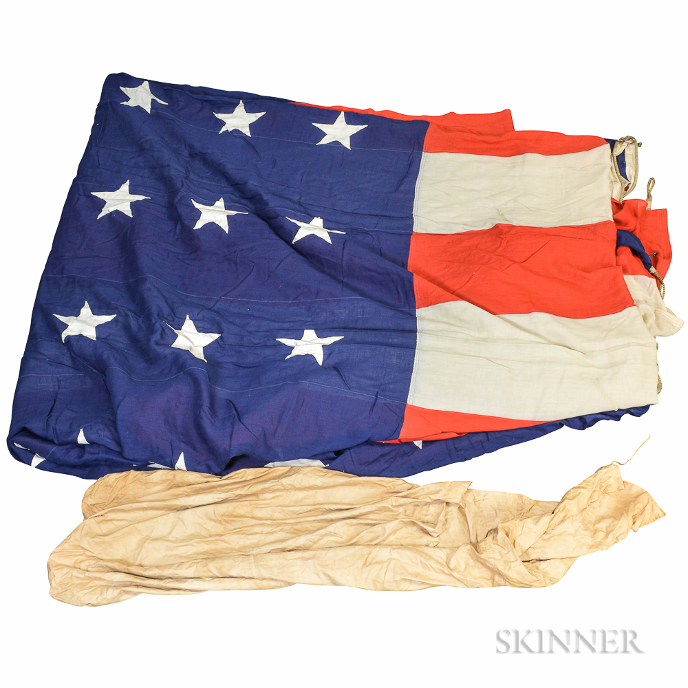 Large H.A. Bowman & Co. Forty-eight-star American Flag