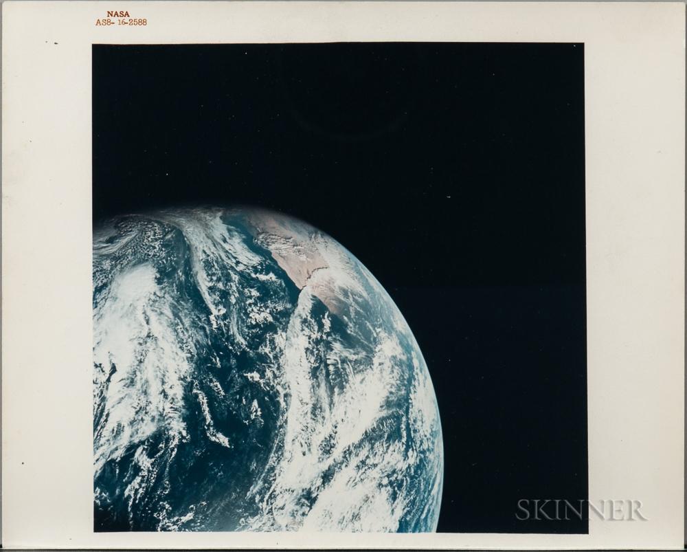Apollo 8, Earth View, December 1968.