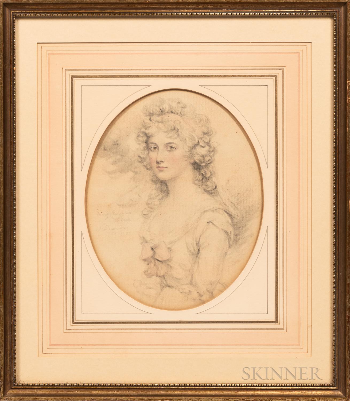 John Downman (British, 1750-1824)      Portrait of Mary Christina Moir.