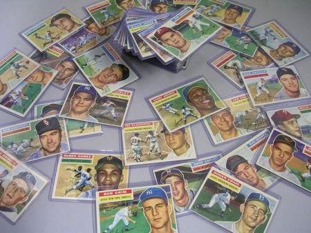 Seventy 1956 Topps Baseball Cards