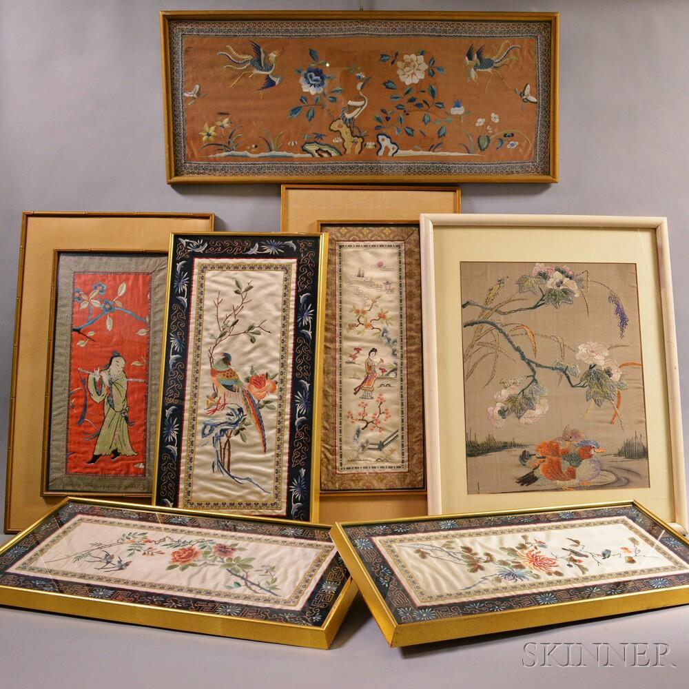 Seven Silk Embroideries