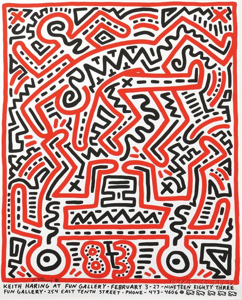 Keith Haring (American, 1958-1990)      Keith Haring at Fun Gallery