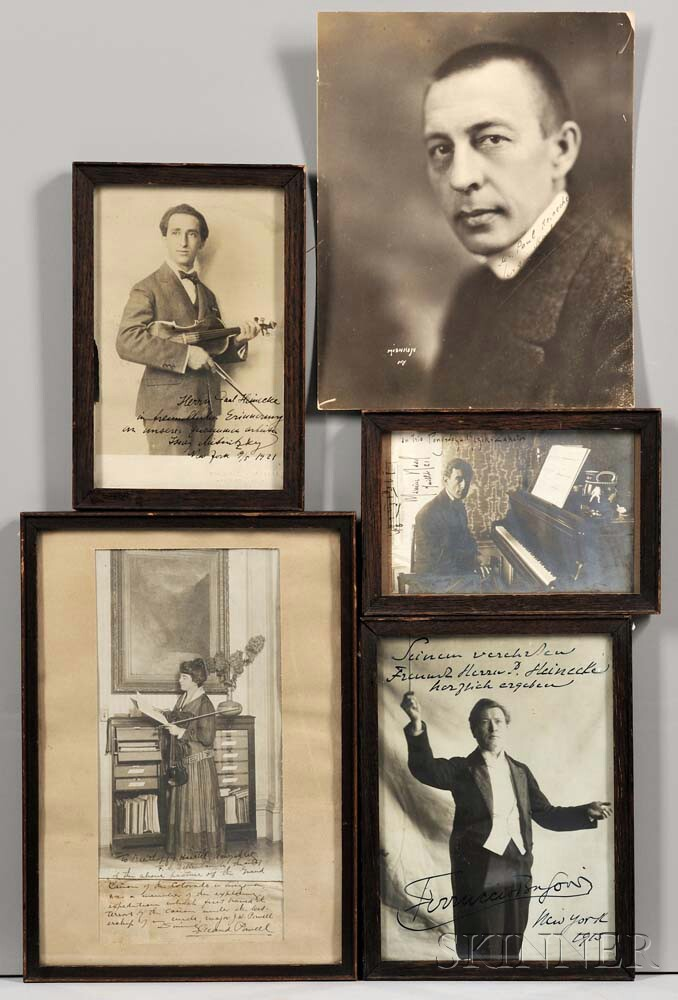 Musicians and Performers, Nine Autographed Photographs.