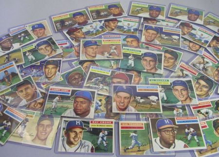 Forty-eight 1956 Topps Baseball Cards