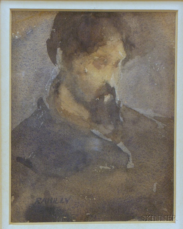 Two Framed Portraits by Paul Rahilly (American, 20th Century)