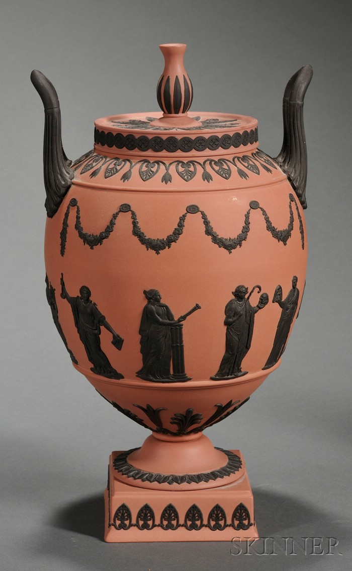 Wedgwood Terra Cotta Jasper Vase and Cover