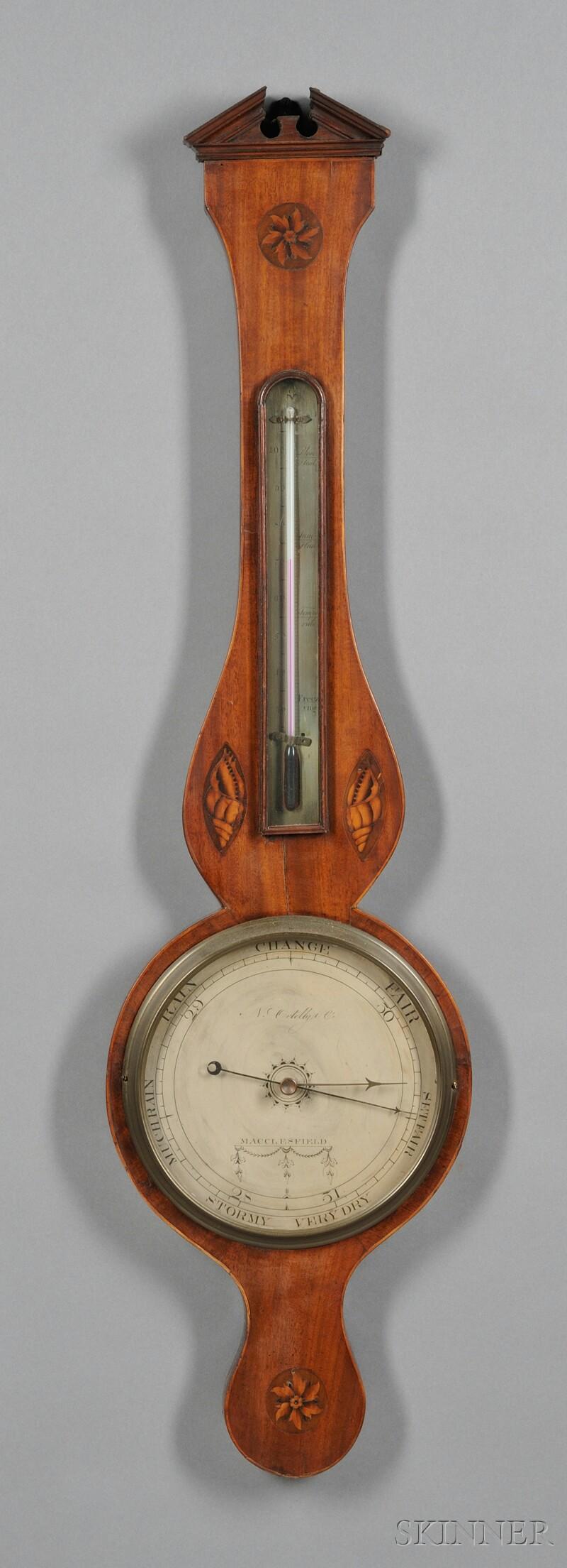 George III Inlaid Mahogany Wheel Barometer