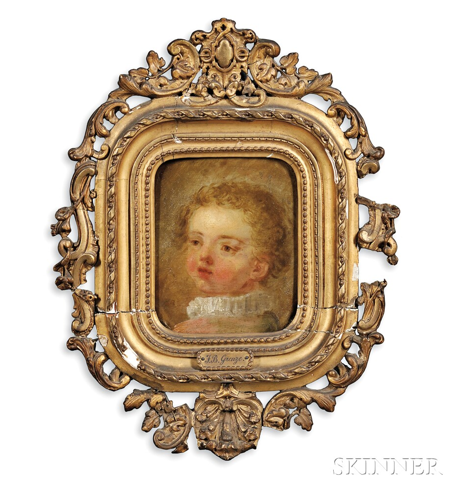 Jean Baptiste Greuze (French, 1725-1805)      Bust of a Child