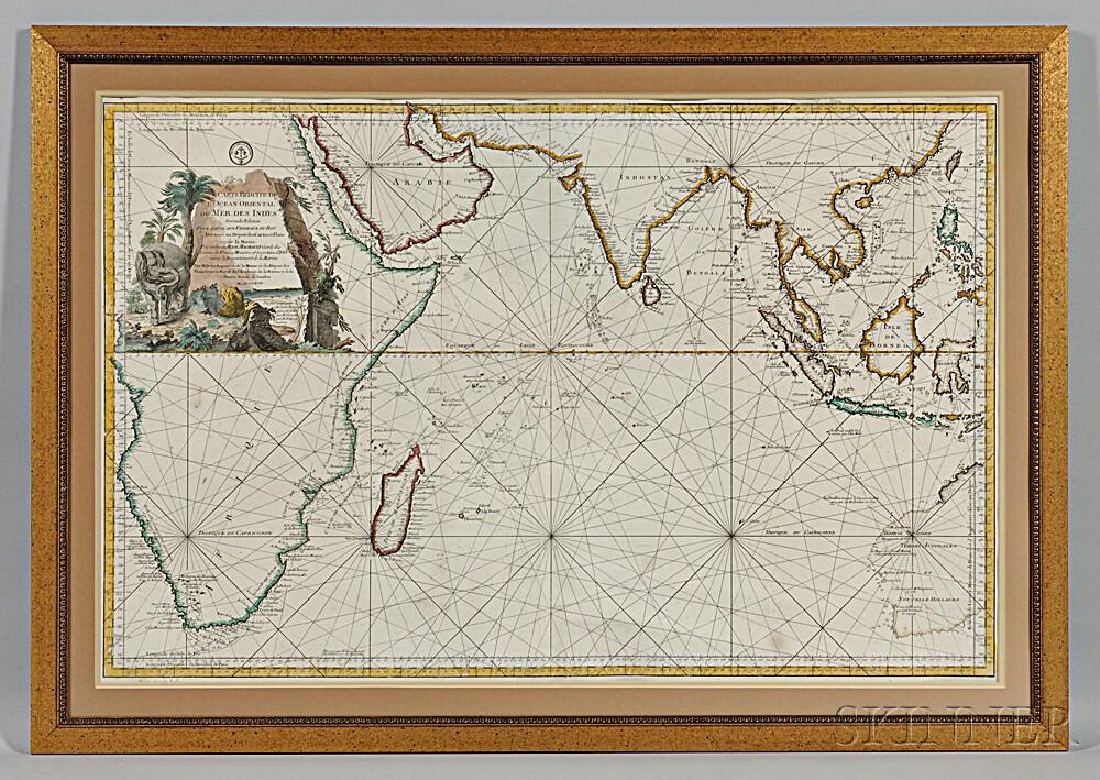 Indian Ocean. Jacques Nicolas Bellin (1703-1772) Carte Reduite de L'Ocean Oriental ou Mer des Indes.