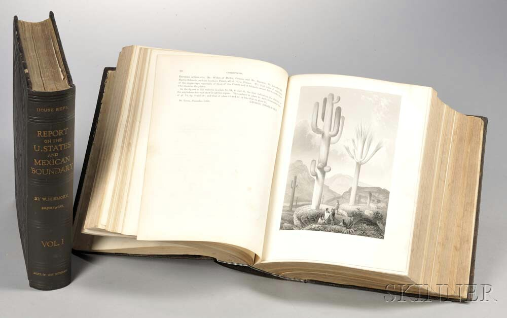 Emory, William Hemsley (1811-1887) Report on the United States and Mexican Boundary Survey.