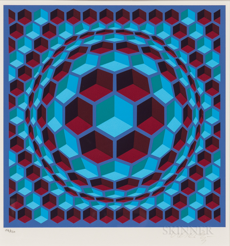 Victor Vasarely (Hungarian/French, 1906-1997)      Pixis
