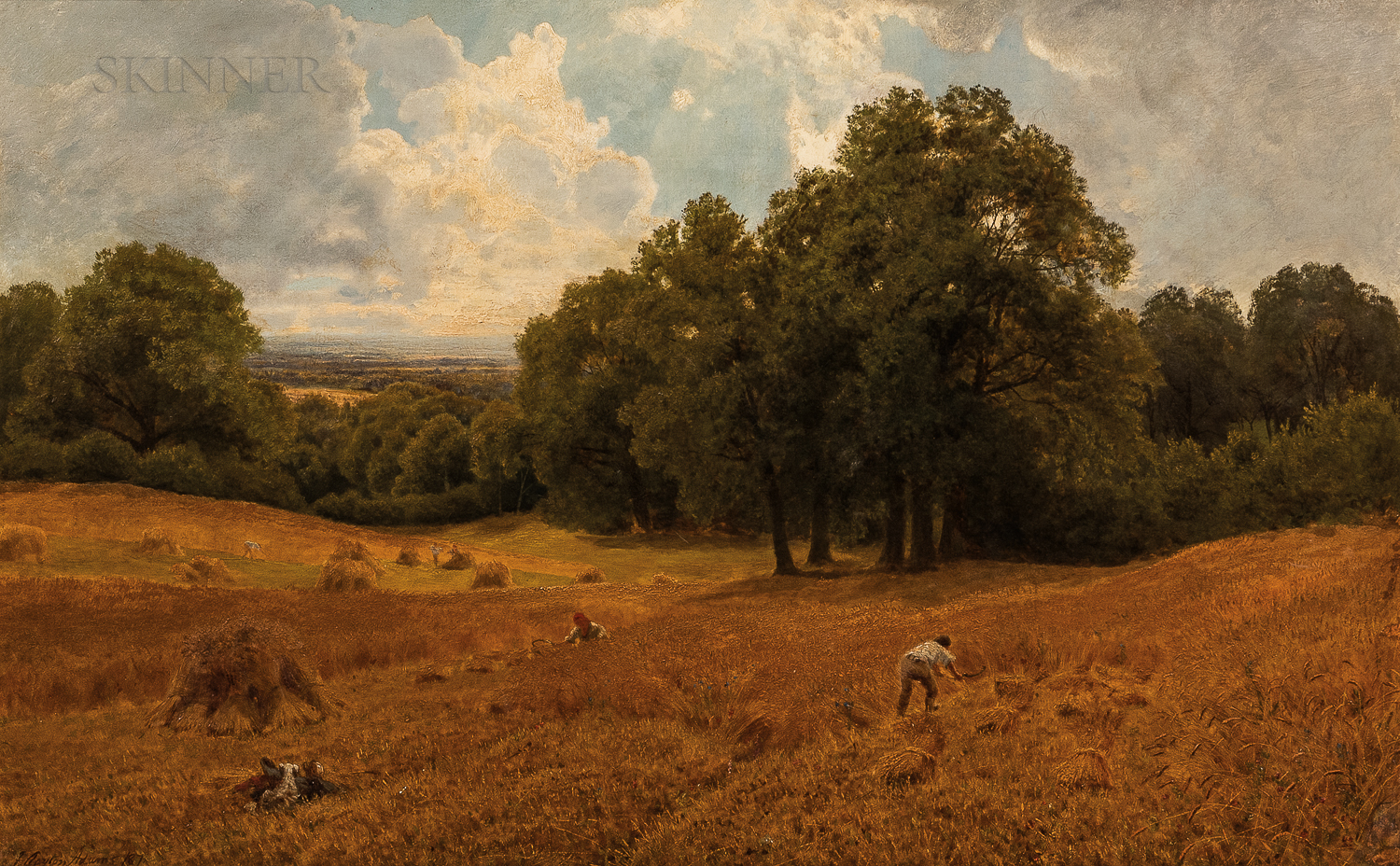 John Clayton Adams (British, 1840-1906)      The Hay Harvest