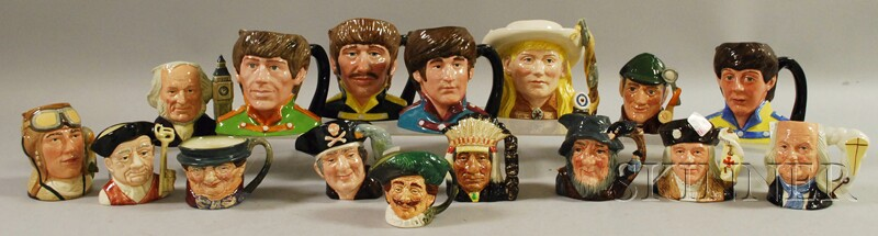 Sixteen Assorted Royal Doulton Ceramic Character Jugs