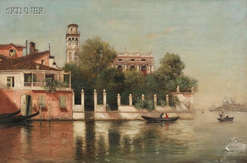 Warren W. Sheppard (American, 1858-1937)      View of Venice