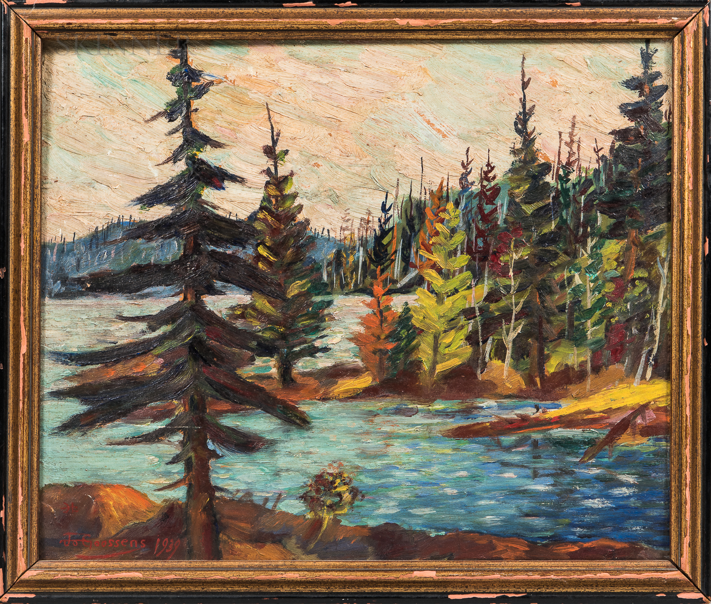 John Goossens (American, 1887-1968)      Under North-land Skies  /A Canadian View
