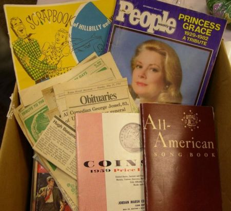 Lot of Assorted Vintage Periodicals, Scraps, and Ephemera.Lot of Assorted...