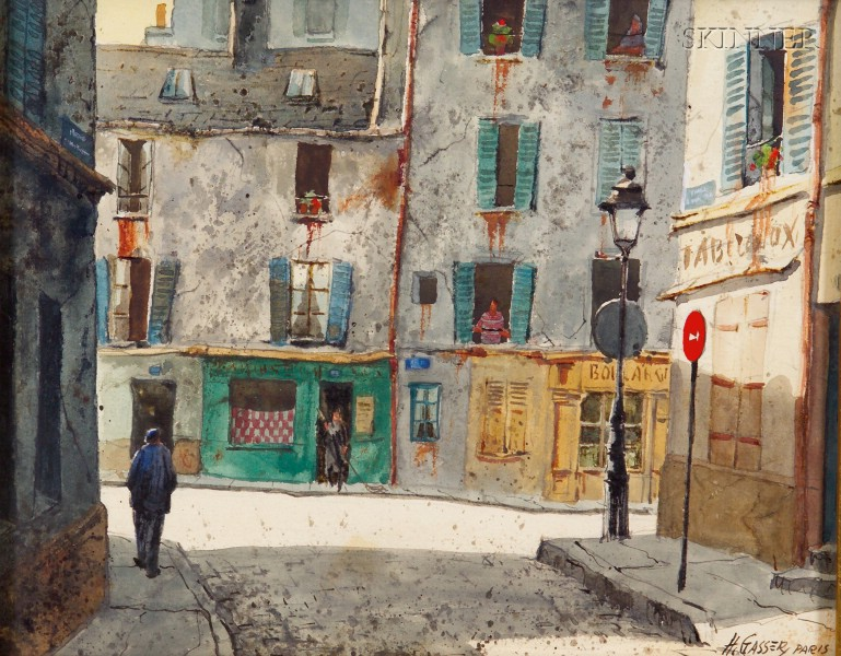 Henry Martin Gasser (American, 1909-1981)      Light and Shadow, Paris