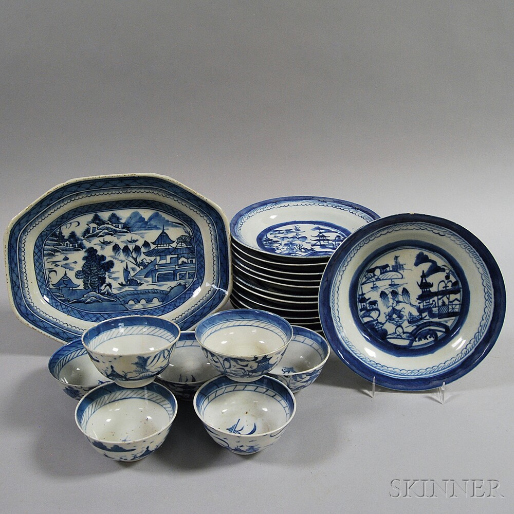 Twenty Pieces of Canton Porcelain