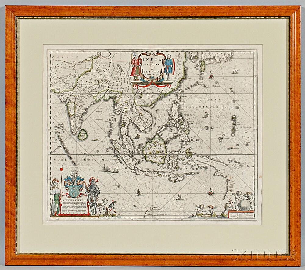 India, China, Southeast Asia. Willem Janszoon Blaeu (1571-1638) India quae Orientalis dicitur, et Insulae Adiacentes.