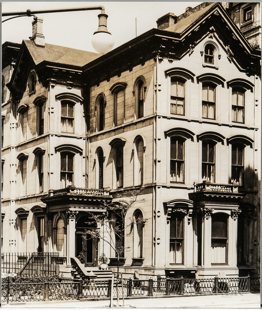 Walker Evans (American, 1903-1975)       Brownstone Houses, 222 Columbia Heights, Brooklyn [variant]