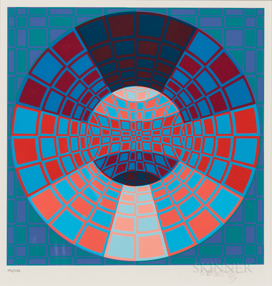 Victor Vasarely (Hungarian/French, 1906-1997)      Xanor
