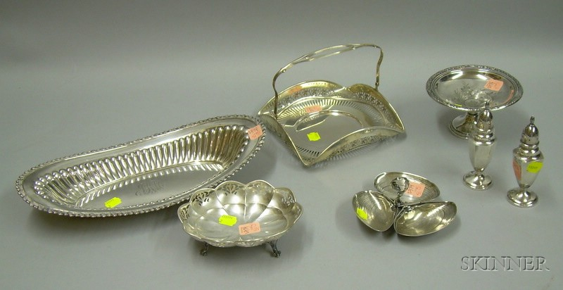 Seven Assorted Sterling Silver Table Items