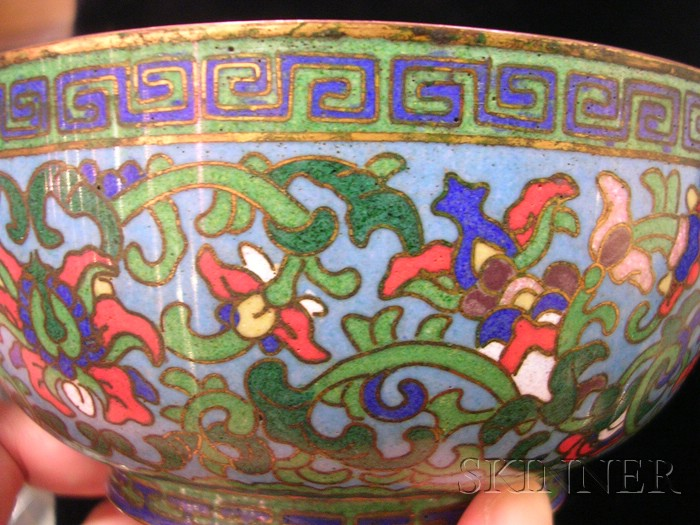 Pair of Cloisonné Enameled Bowls