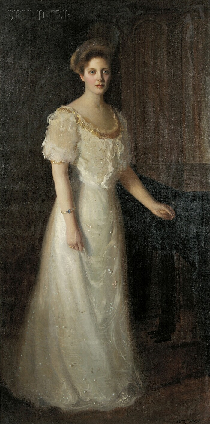 Arthur Merton Hazard (American, 1872-1930)      Portrait of Irene [née Sweet] Dutcher of Hopedale, Massachusetts