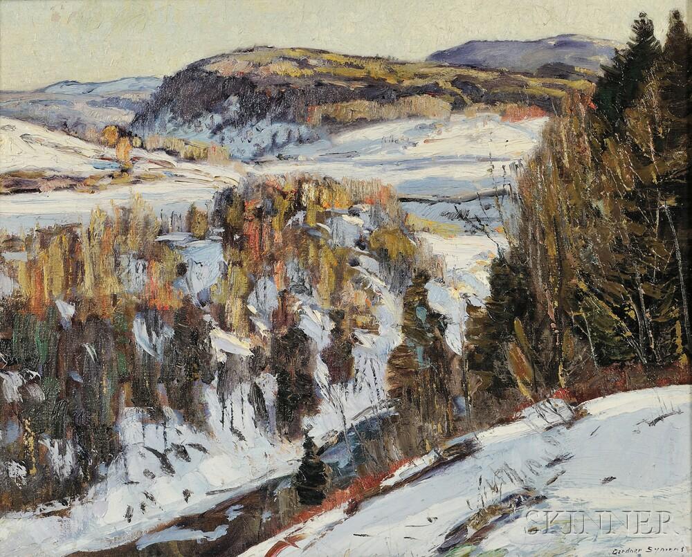 George Gardner Symons (American, 1863-1930)      Winter Vista