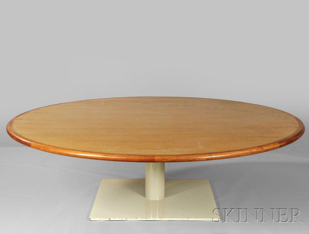 Warren Platner Oak Table Designed for the Providence Athenaeum