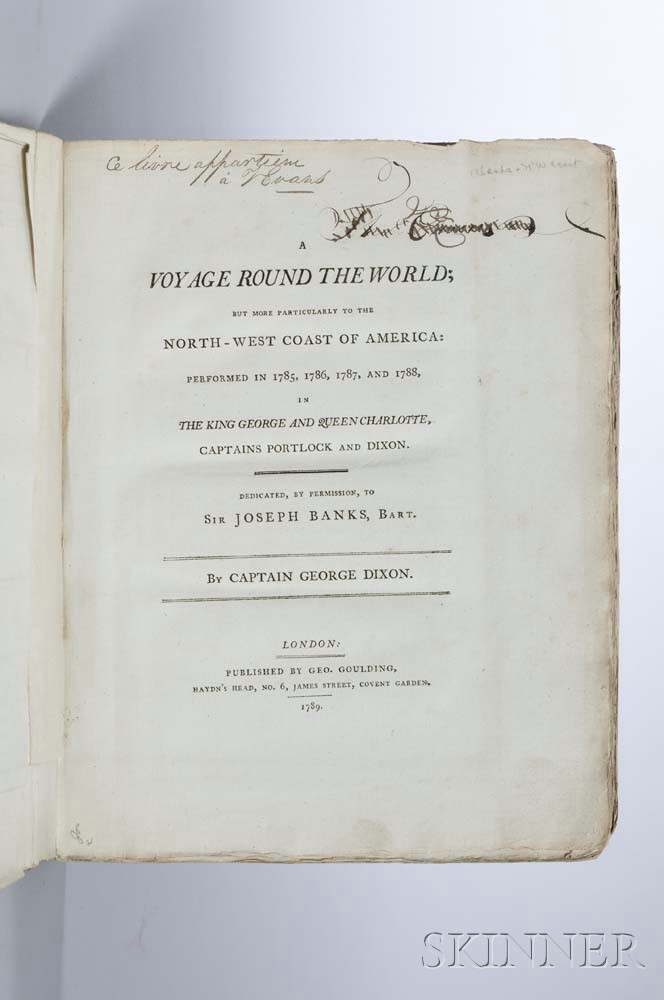 Dixon, George (1748-1795) A Voyage Round the World; but More Particularly to the North-West Coast of America,   the Streeter Copy.