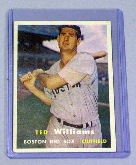 1957 Topps No. 1 Ted Williams Baseball Card.