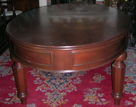 Empire-style Oval Mahogany Center Table