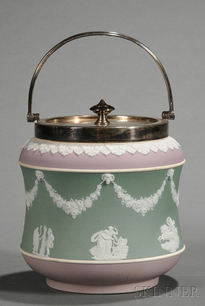 Wedgwood Three-Color Jasper Dip Biscuit Jar