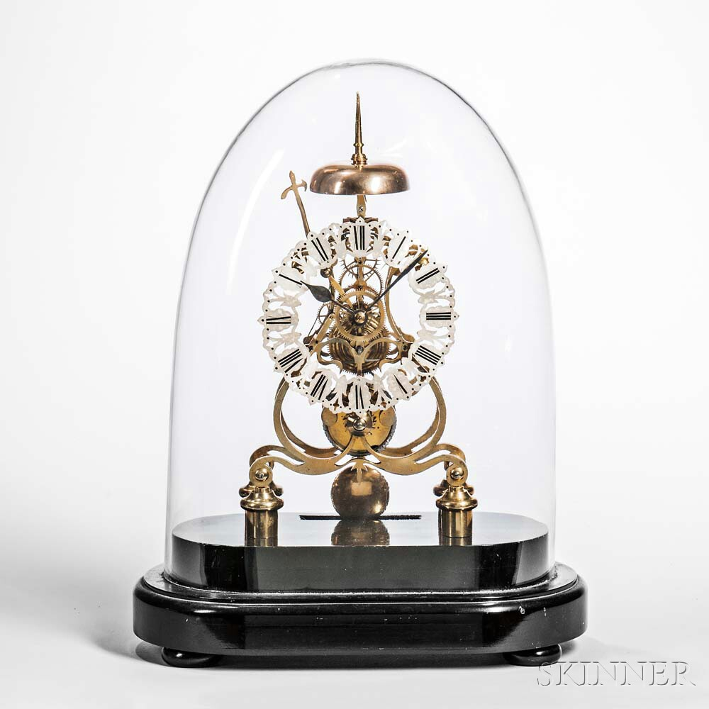 Scroll-plate Skeleton Clock