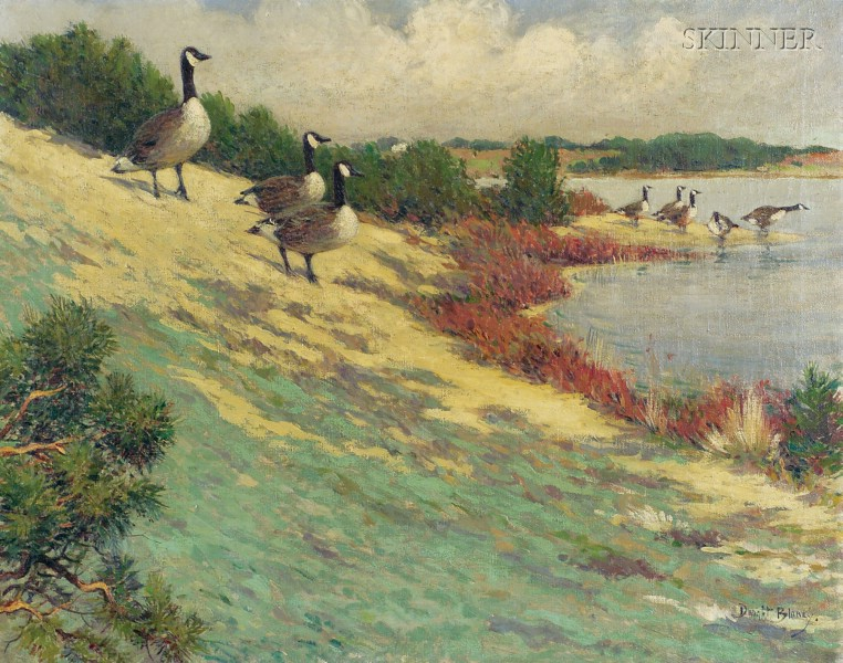 Dwight Blaney (American, 1865-1944)      Geese at Eastham