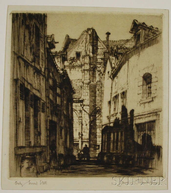 Samuel V. Chamberlain (American, 1895-1975) Lot of Three Facade Views: Gateway in the Ghetto (Chamberlain & Kingsland, 96), The Shadowy