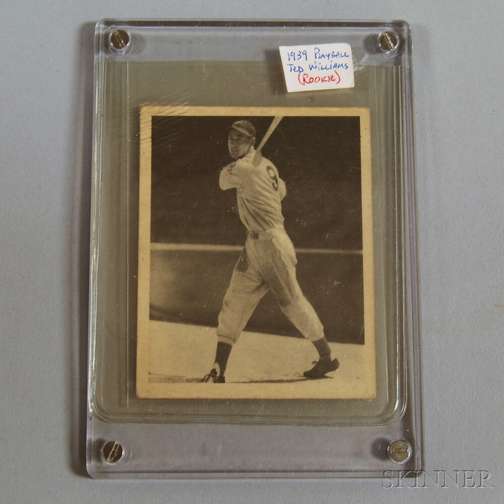 1939 Play Ball #92 Ted Williams Rookie Card.     Estimate $1,200-1,500