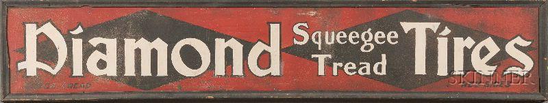 """Diamond Squeegee Tread Tires"" Auto Sign"