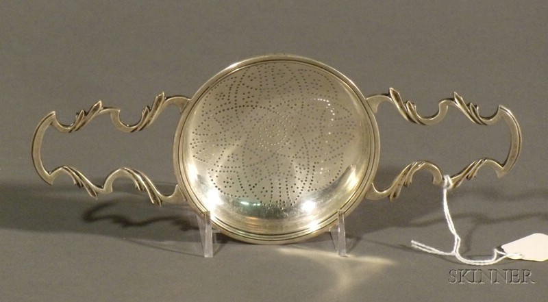 George II Silver Punch Strainer